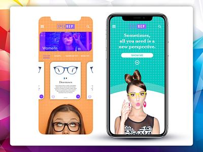 Glasses App Store shop glasses ui mobile ui mobile app