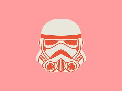 Stormtrooper space helmet illustration star wars stormtrooper
