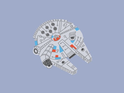 Millennium Falcon scifi ship cute fun fan art star wars
