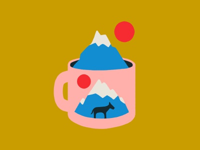 Mountain Mug imagination stay at home cute mug mountain