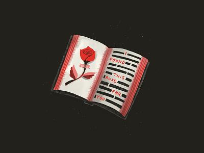 INKTOBER 02 - BOOK procreate carra sykes csinktober inktober