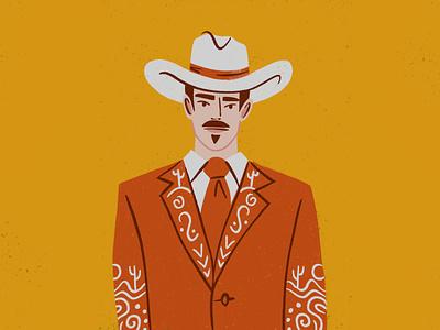 Cowboy - Quick Draw suit western hat mustache cowboy
