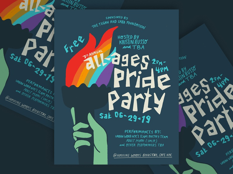 All-Ages Pride Party nyc new york illustration design gay lesbian lgbt pride