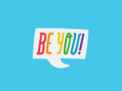 Be You! - Sticker for Facebook gay lgbtq lgbt pride sticker facebook