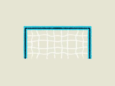 Soccer - Goal blue sports goal net soccer