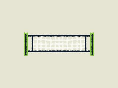 Tennis - Net sports green tennis net