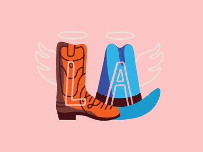 Adobe MAX cowboy hat boot angel los angeles adobe max la
