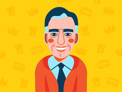 Mr. Rogers for the Goodnewspaper portrait illustration mr rogers