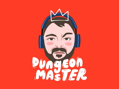 Dungeon Master Ben bubble type type crown portrait illustration dungeon dungeons and dragons