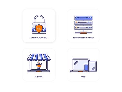 Icon set - Internet Services