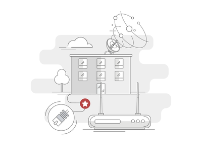 Simple Illustration - Internet Service Provider