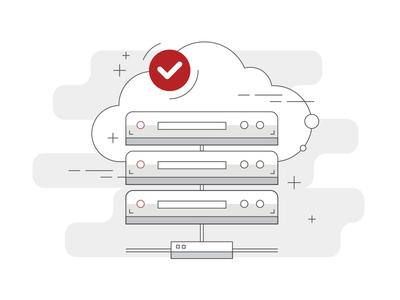 Simple Illustration - Web Hosting Service