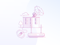 DNS Internet Service Illustration
