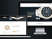 Icebox Index Presentation luxury brand watches diamond responsive product design landing page website manufacturer business design ux ui branding atomgroups
