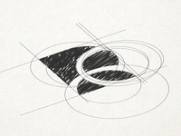 Reali - Initial sketch for the Colorful Logo sketch logo design atomgroups atom systems ui business design vector illustration logo branding