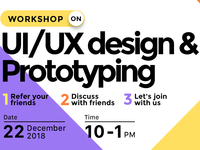 UIUX Design Workshop - Poster coimbatore workshop event event branding branding atom systems business product design ux ui illustration design