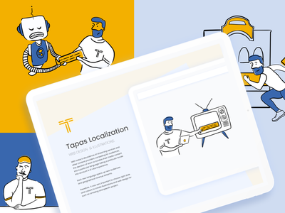 Illustrations for Tapas localization characters uidesign design character digital art character design web ui blue illustration