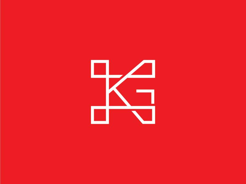 GK logo for Gallery Karma designer gk logo identity design adobe vector monogram branding logo