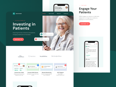 BetterHealth Platform ui chatbot health interface website granny