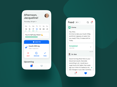 BetterHealth App app design medical app drugs chatbot chat app