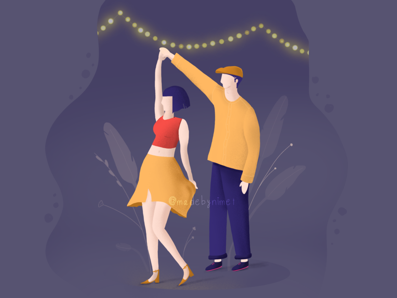 Dance with me. couplegoals love valentine party valentine card valentine day dance party dance procreate app procreate charachter design charachter drawing illustrator illustration