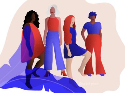 International Women's Day '19 women in illustration wonderwoman girls sketch procreate app procreate girlpower internationalwomensday womensday charachter illustrator drawing illustration
