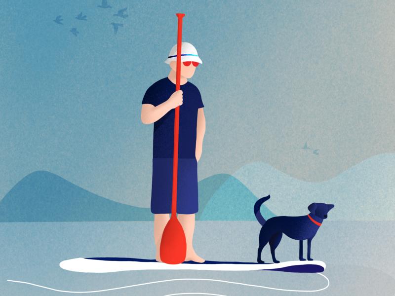 Adventure is worthwhile friendly animal adventure time adventure canoeing animal procreate procreate app charachter illustrator drawing illustration