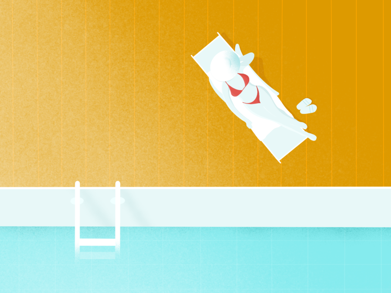 Sorry, I'm busy sunbathing. poolside pool sunbath sunbathing sketch summer illustrator charachter design women in illustration procreate procreate app drawing illustration