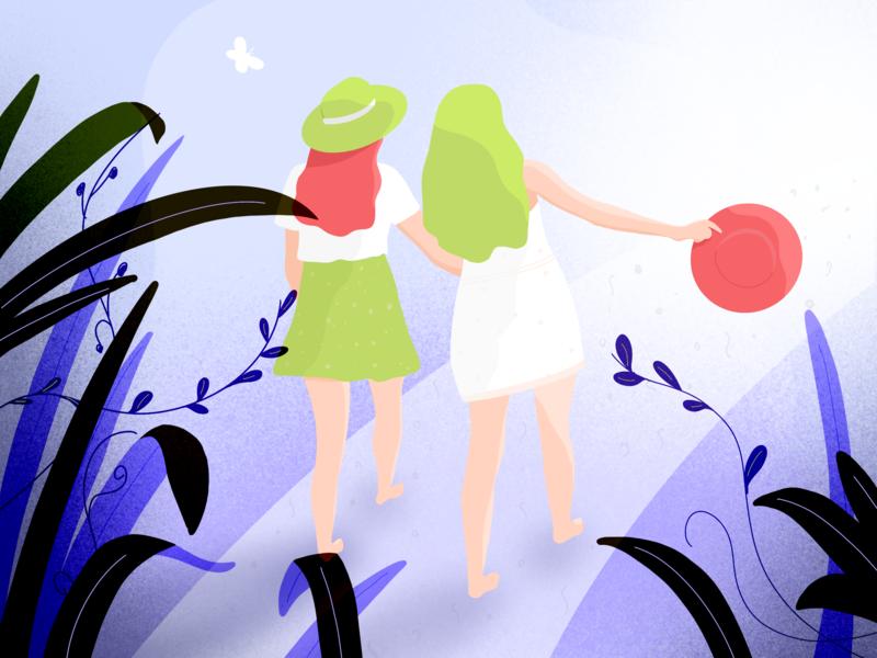 love loveislove summer procreate girl charachter design illustrator women in illustration procreate app drawing illustration
