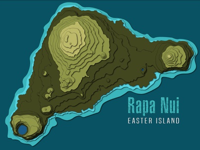 Cut out paper art illustration. Easter Island. flat identity branding icon design ui illustrator web vector logo illustration