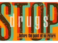 Stop drugs art brand illustrator identity branding web vector logo illustration flat design