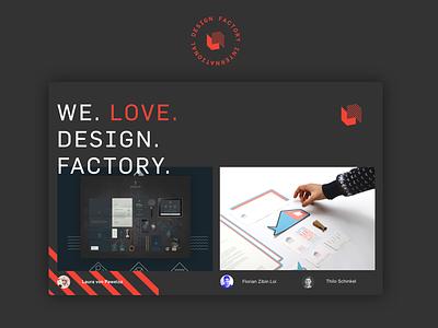 Design Factory International red gray portfolio web design design school design