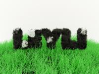 3D Typography Dog Fur Experiment