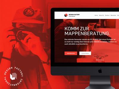 Webdesign Relaunch education school design web site ux ui clean webdesign