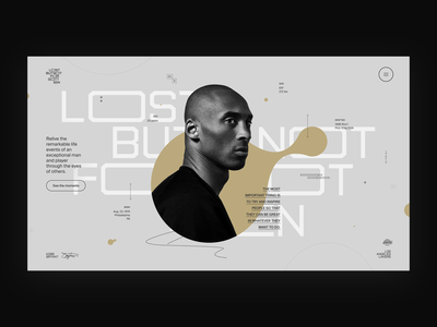 Kobe 24—8. bryant kobe nba basketball experience website muzli branding ui typography grid minimal webdesign concept