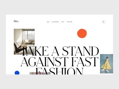 Motion Exercise — N°001 smooth principleapp parallax fashion website motion branding grid typography minimal webdesign concept