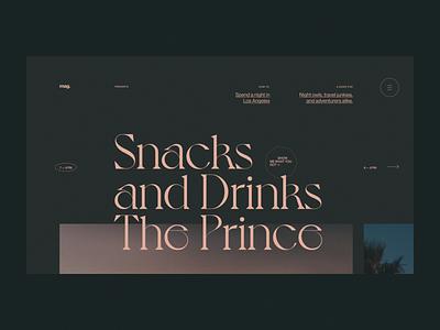 Motion exercise N°002 magazine editorial interaction night losangeles motion animation web website ui typography grid minimal webdesign concept