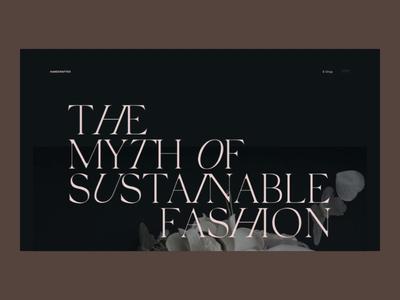 Motion exercise N°004 luxury floral mood editorial website ui web branding fashion italic animation transition motion typography grid minimal webdesign concept