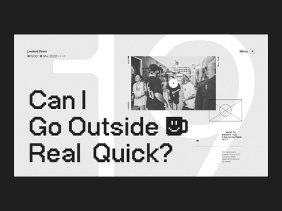 Motion exercise N°006 experience editorial ui grid typography minimal concept webdesign web website branding pixel bitmap motion animation interaction