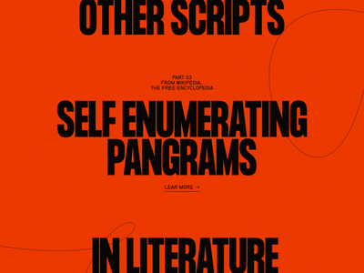 Pangrams №001 branding type dark typography grid minimal concept webdesign website web exploration personal