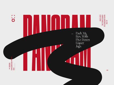 Pangrams №003 type exploration moodboard branding dark ui grid minimal web webdesign website typogaphy concept