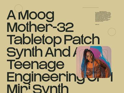 (Music) Pangrams №005 exploration moodboard hiphop website branding ui typography grid minimal webdesign music artist concept