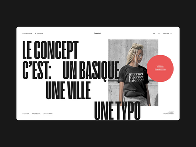 TypoCité — Store Concept boutique business commerce shopify ecommerce shop ecommerce lyon website branding ui typography grid minimal webdesign concept