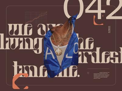 Pangrams №006 art direction moodboard mood streetwear lifestyle type vector website branding typography grid minimal webdesign concept