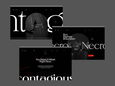 Type & Layout Explorations web dark website branding ui typography grid minimal webdesign concept