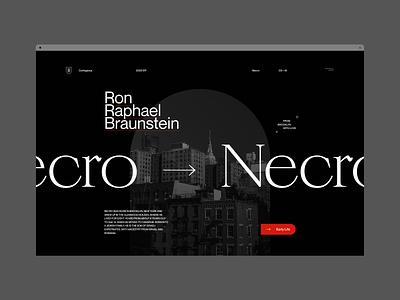 Type & Layout Explorations web dark website branding ui typography grid minimal webdesign concept