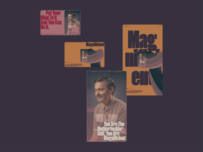Magnificent colors palette art direction colors branding ui typography grid minimal webdesign concept