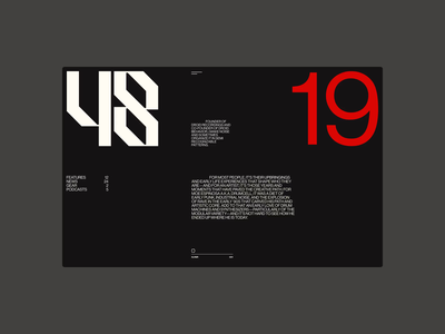 Layouts Exploration ― Drumcell artdirection art exploration website web big bold grids font type layout music design branding ui typography grid minimal webdesign concept