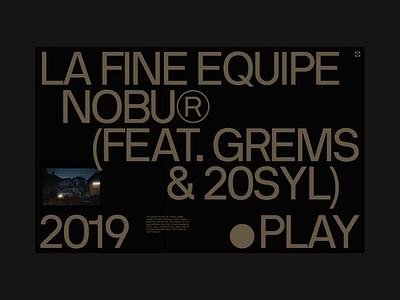 NOBU® type layout exploration website logo design branding ui typography grid minimal webdesign concept