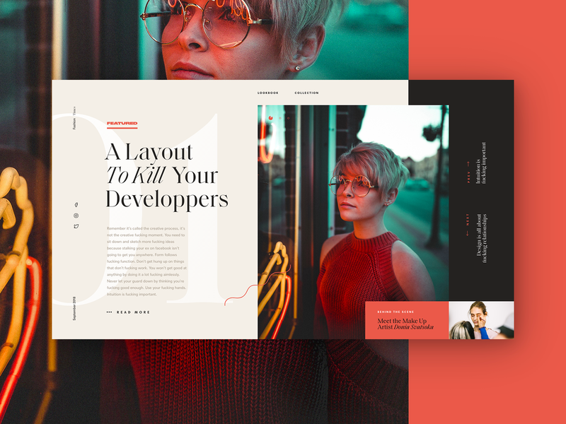 Nonsense 01 content article portrait unsplash graphic minimal typography concept layout